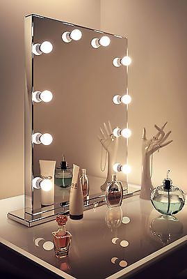 Diamond X Mirror Finish Hollywood Makeup Mirror Warm White Dimmable LED k252WW in Health & Beauty, Make-Up, Make-Up Tools & Accessories | eBay