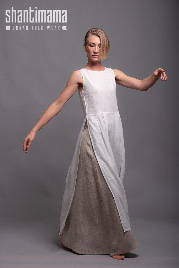 Tunique en lin blanc Robe de jour d'été en lin doux NERO Lagenlook | Etsy   – Kurtas