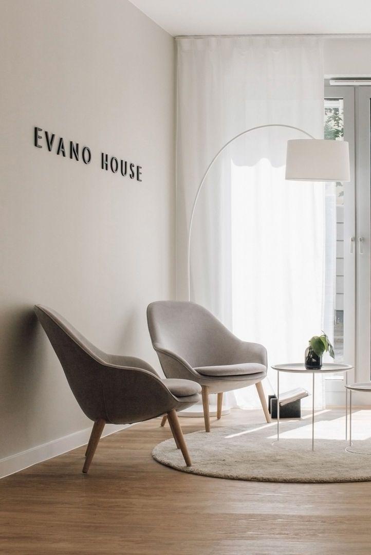 Design Sessel Scandinavia Grau Inkl Hocker Retro Look