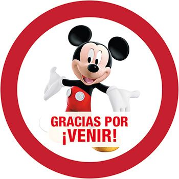 Etiqueta Mickey Mouse Casa Club Redonda Kit Imprimible