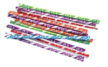 "Need an energy boost? Pixy Stix are fruit flavored powdered candy in a straw! Popular back in the 50's, Nestle acquired the rights and still produces Pixy Stix under the brand Willy Wonka. For an energy boost, PIXY STIX is the mouth watering, flavorful powder candy that is packaged in a colorful 6"" straw. They come in 4 flavors ~ grape, punch, cherry and orange"