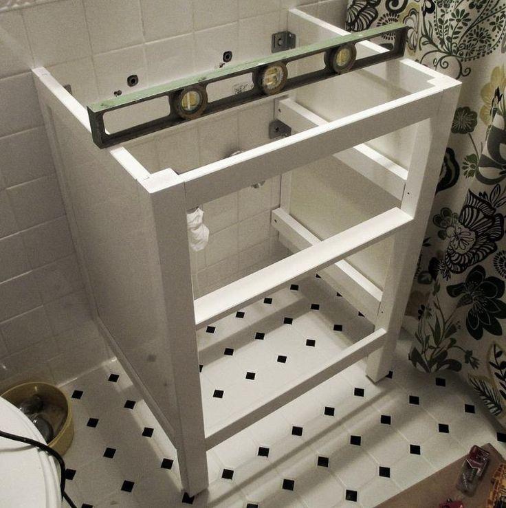 Bathroom Renovation How To Install An Ikea Hemnes Sink Cabinet Hemnes Sinks And Bath