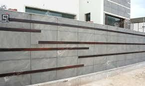 Image result for PLANTERS on boundary wall