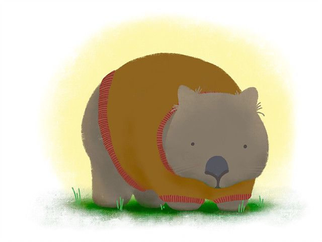 Wombat's jumper - art by Waffle and Bear Illustrations