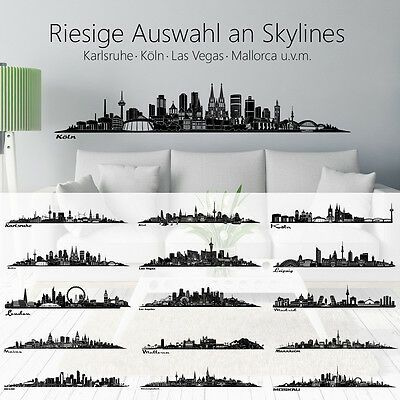 skyline wandaufkleber wandtattoo berlin hamburg dortmund