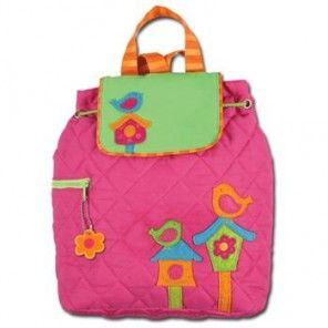 Birdhouse Backpack by Stephen Joseph - For Monogramming: If wanting Initials monogrammed, please enter in order to APPEAR.    Click Here to View Full Font Alphabets