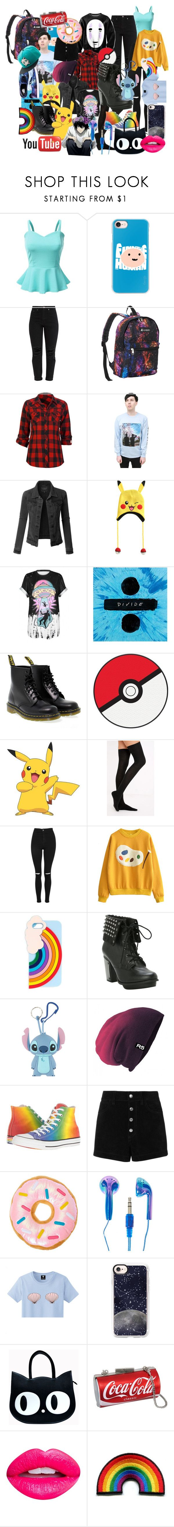 """""""ME"""" by paffen-amber ❤ liked on Polyvore featuring Doublju, Casetify, Everest, Full Tilt, LE3NO, Nintendo, WithChic, Dr. Martens, York Wallcoverings and Vans"""