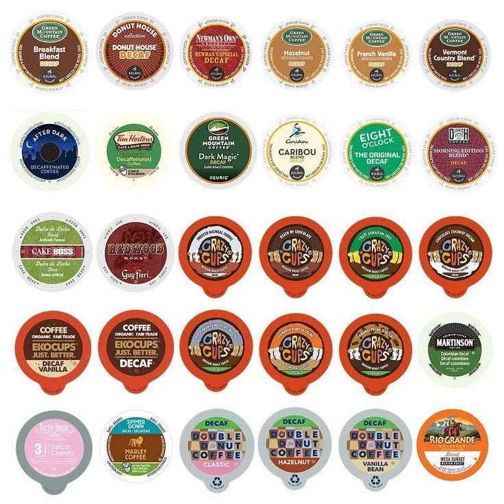 Custom Variety Pack Decaf Coffee Sampler, for Keurig K-Cup Brewer - Variety - 30 ct *** You can get more details here : K Cups