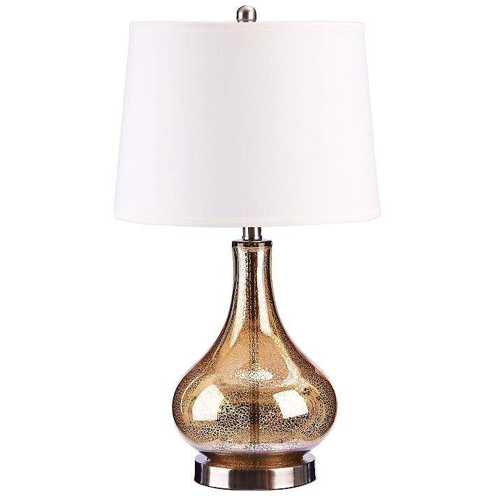 Mackenzie Gold Mercury Glass Gourd Led Table Lamp 67d38 Lamps Plus Led Table Lamp Lamp Gold Mercury Glass