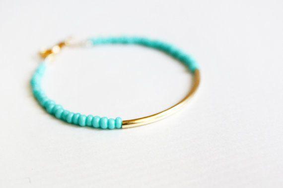 menthe lingot d'or bracelet - bijoux minimaliste - amitié bracelet (B014) sur Etsy, 7,46€