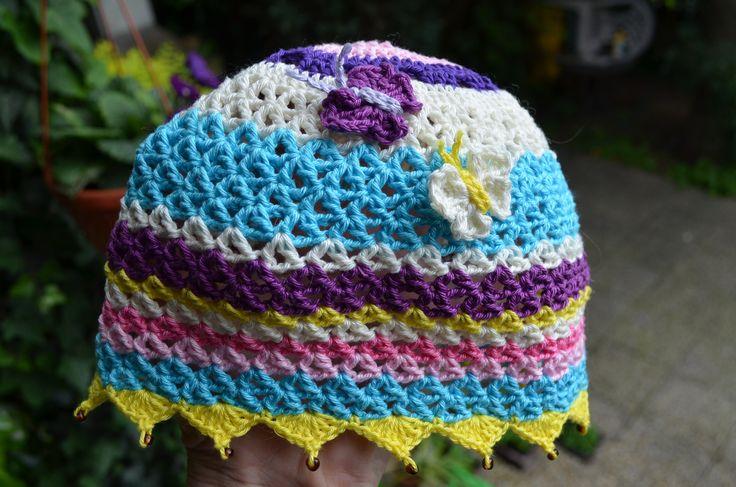 háčkovaná čiapočka na leto 100% bavlna