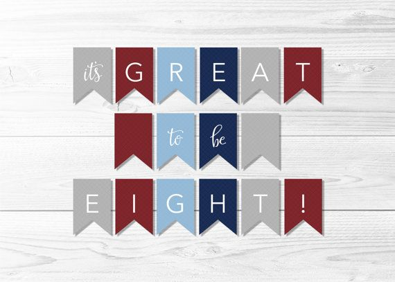 Great To Be Eight Baptism Banner  Navy and Red by AnchorandSalt