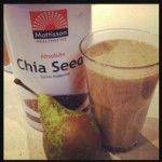Herfst smoothie  1 peer 2 dadels – zonder pit 2 eetlepels chia zaden 1 groot glas kokoswater 1 theelepel kokosvet 1 theelepel Maca poeder Doe alle ingrediënt...