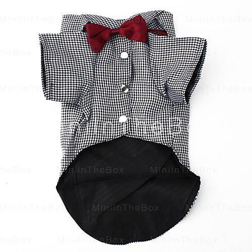 [EUR € 8.73]  - puce chemise de style bowtie pour chiens (XS-XL)