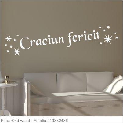 Wandtattoo - Frohe Weihnachten Rumänisch