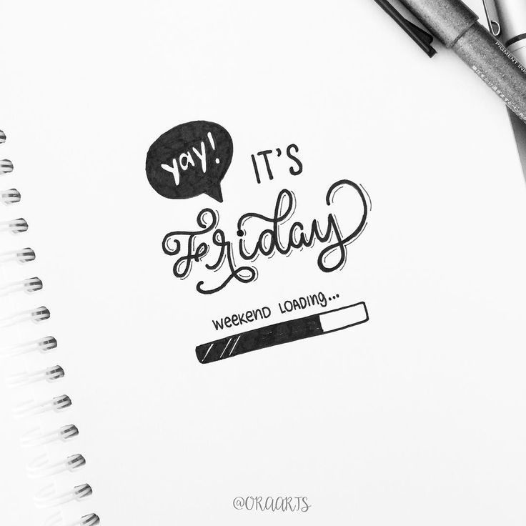 yay it's friday typography