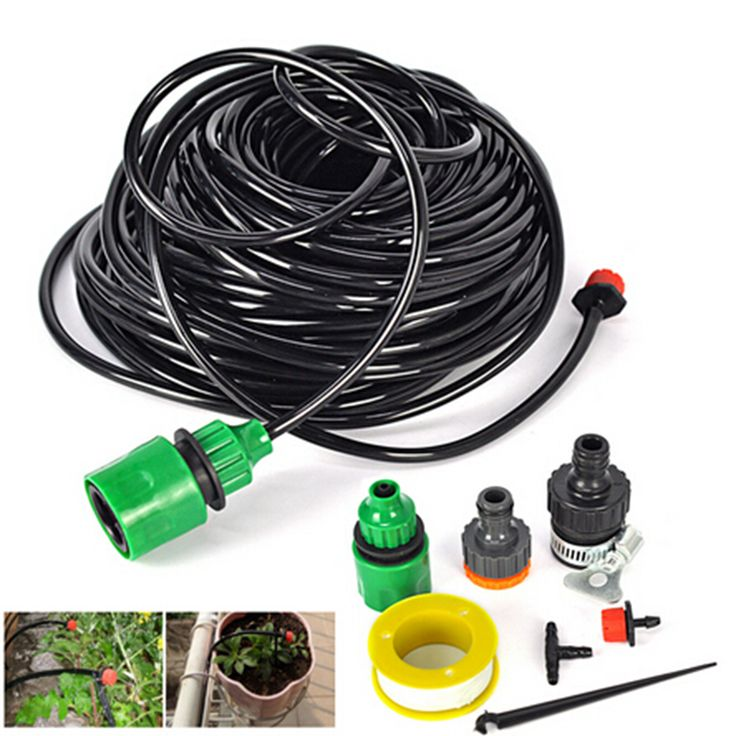 25M  4/7mm  Hose/30 Drippers Sprinkler System Automatic Plant Garden Watering Kit  Gardening Drip Watering Irrigation System