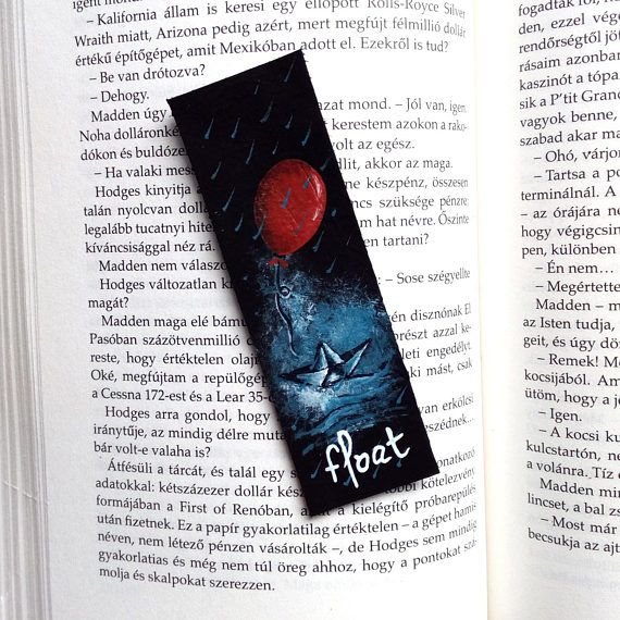 Check out this item in my Etsy shop https://www.etsy.com/listing/535794822/pennywise-bookmark-stephen-king-bookmark