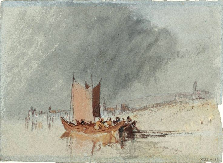 The Athenaeum - Boats on the Loire, Possibly near Ingrandes (Joseph Mallord William Turner - )