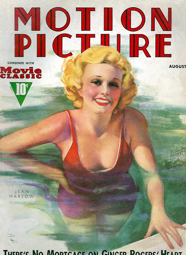 Motion Picture,  August 1937... Jean Harlow