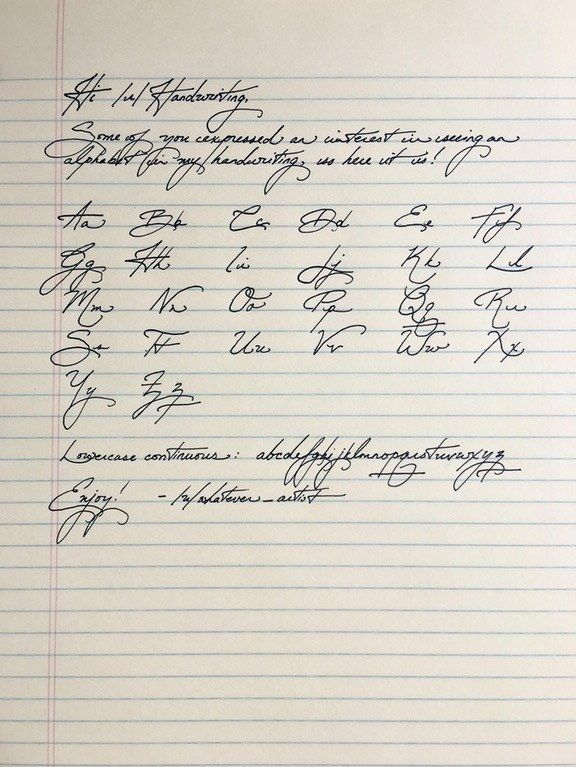 And this incredible alphabet that really ought to be framed. | 18 Pieces Of Handwriting So Satisfying They'll Make Everything OK Again