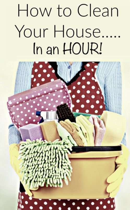 CLEAN HOUSE HACKS IN AN HOUR
