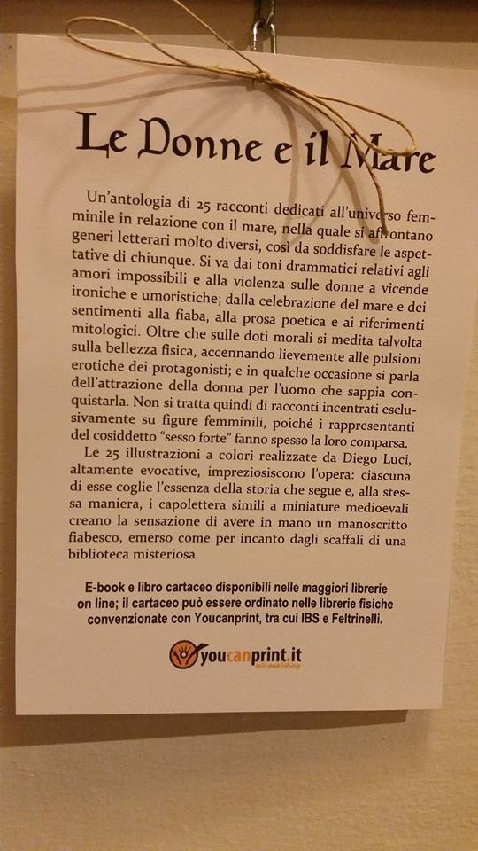 La sinossi del libro.  http://www.amazon.it/Donne-e-il-Mare-ebook/dp/B00CKXNI40