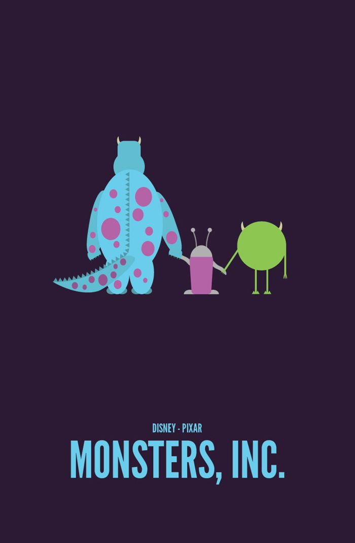 Alternative Movie Poster for Monsters, Inc. by Travis LaRiviere