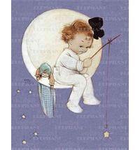 Baby Girl on Moon x