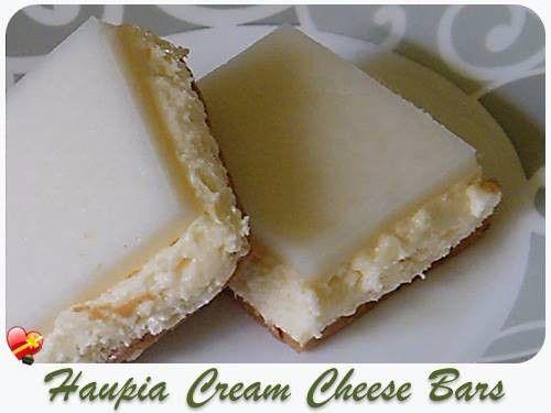 Haupia Cream Cheese Bars - ILoveHawaiianFoodRecipes
