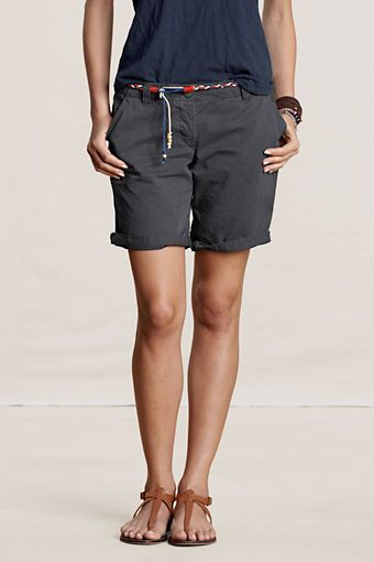 Women's Bermuda Shorts  Color: Wrought Iron  #landsendcanvas Great for those vacations!