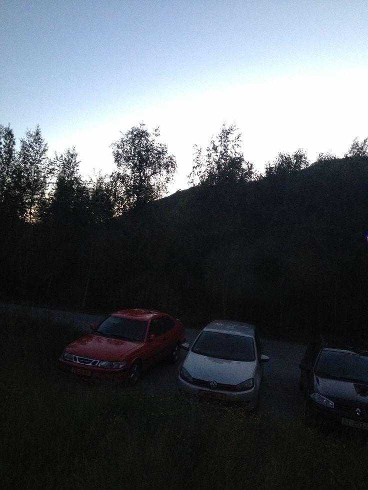 Vr 13-6-2014 / Kaupanger / 00.10 uur. Weer niet donker....