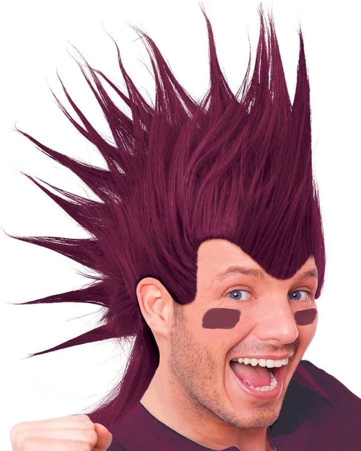 Mohawk Wig Maroon