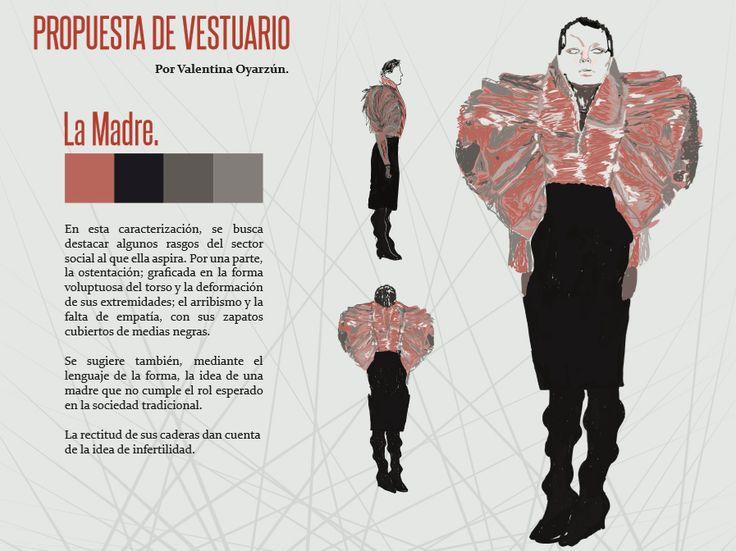 Boceto vestuario  personaje: Madre