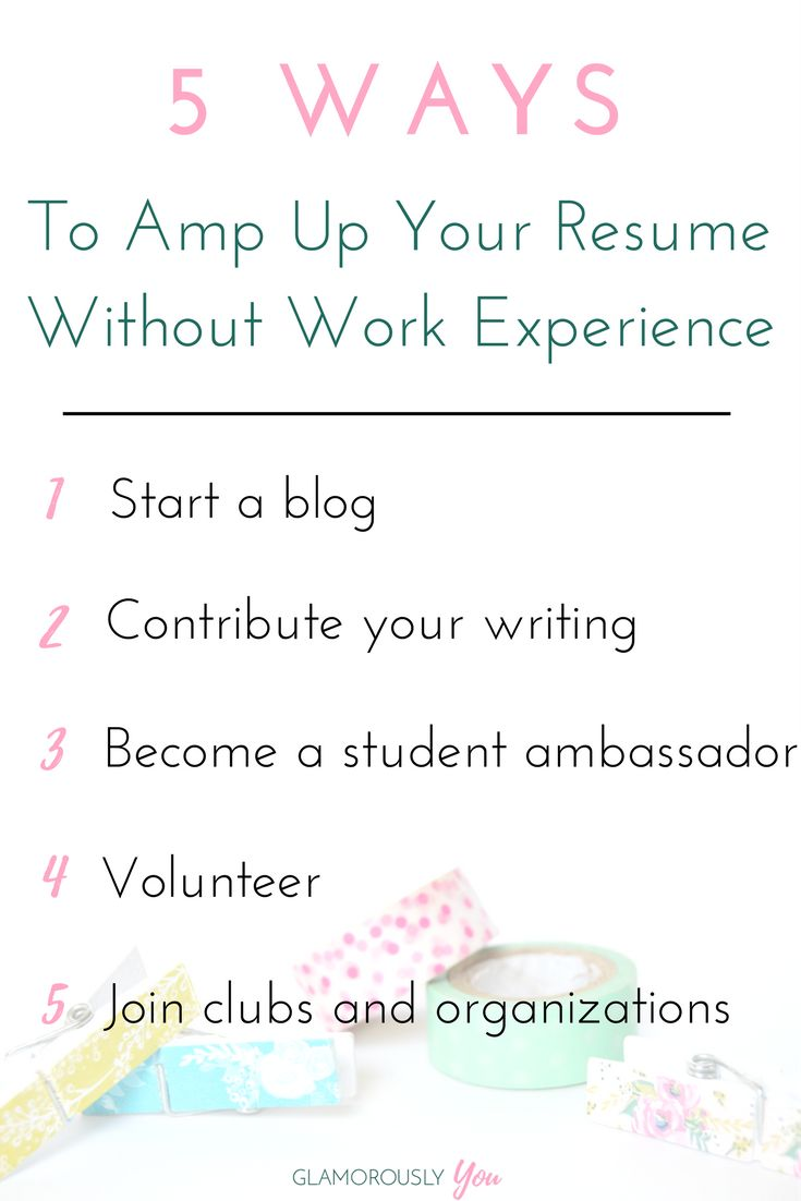Awesome How To Amp Up Your Resume With No Work Experience