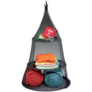 Tent Camping must have..... Wonder how I could DIY this.  You could fashion it after a diaper holder, use pizza pan bottom for stability.