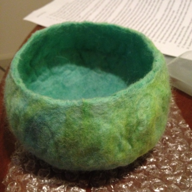 Wet felting