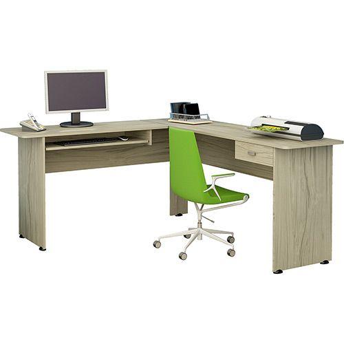 Mesa para Computador Cannes 1 Gaveta Capuccino - Artely - Shoptime