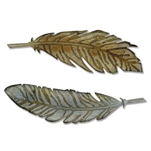 Sizzix Bigz Die w/Texture Fades - Feather Duo $24.99