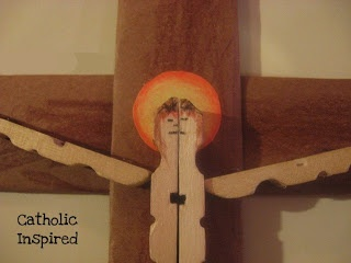 Good Friday Craft ~ Clothes-pin Crucifix   Catholic Inspired ~ Arts, Crafts, and Activities!