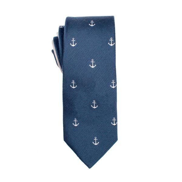 Navy Anchor Tie