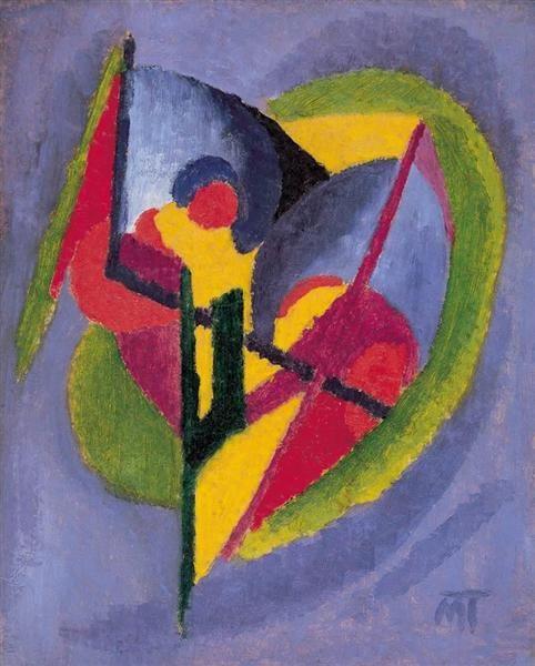 Composition, 1922 by Janos Mattis-Teutsch. Abstract Art. abstract
