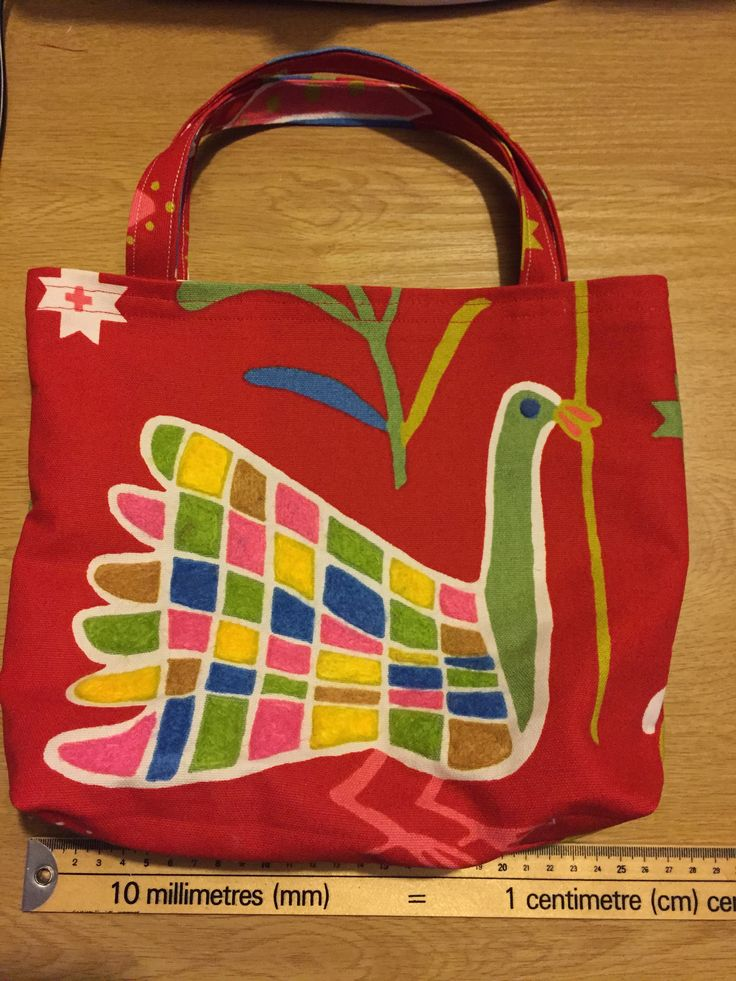 Home made tote bag with felted pattern