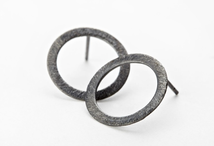 Pernille Corydon Open Coin øreringe - oxyderet - Smykker og ure - Accessories - Mode 300,-
