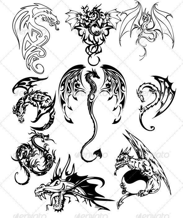 die besten 25 chinesische drachen tattoos ideen auf pinterest chinesischer drachen. Black Bedroom Furniture Sets. Home Design Ideas