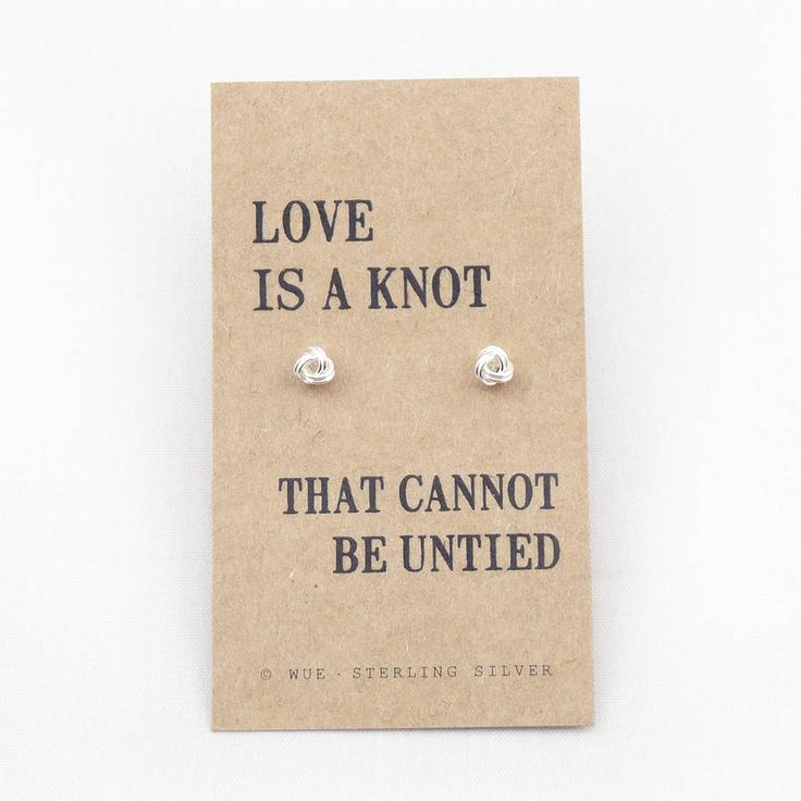'Love Knot' Silver Earrings from notonthehighstreet.com