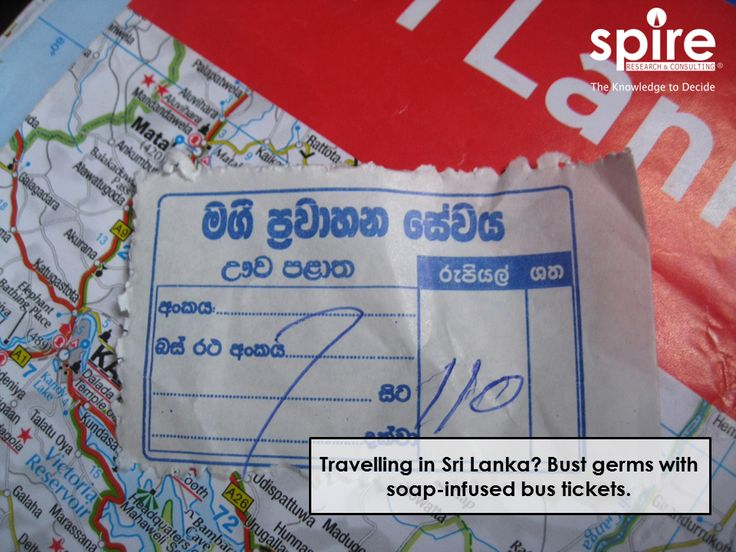 Travelling in Sri Lanka? Bust germs with soap-infused bus tickets.  #Spire #SriLanka #Healthcareindustry #Healthcare2017 #Soap #Busticket #Hygiene #Trivia