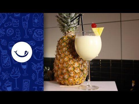 Cómo hacer una Piña Colada paso a paso - YouTube