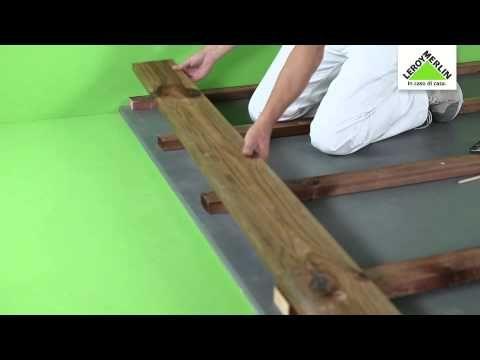 ▶ Posare un pavimento in legno esterno su travetti - Leroy Merlin - YouTube
