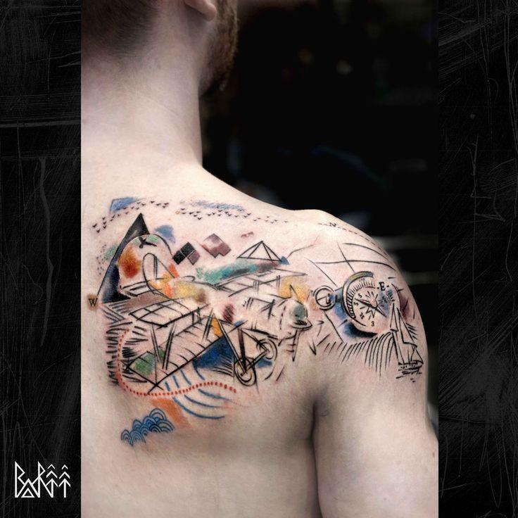 watercolour tattoo colour tattoo line tattoo london tattoo  tattoo london travel tattoo